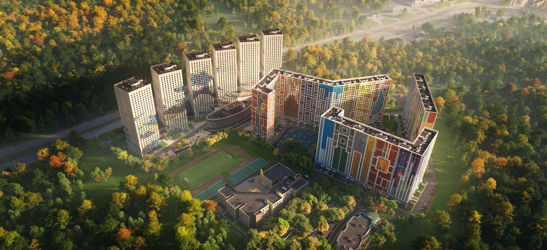 Высотный жилой комплекс Эталон-Сити - Башни Токио