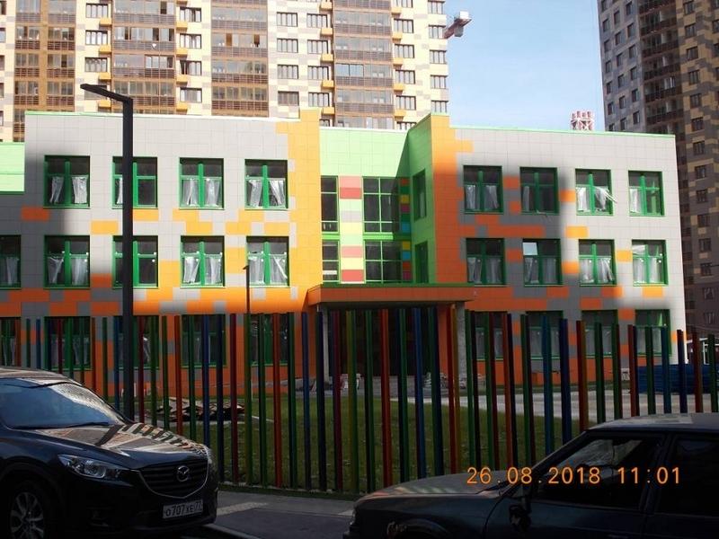 ЖК Сколковский, Август 2018г. Детский сад